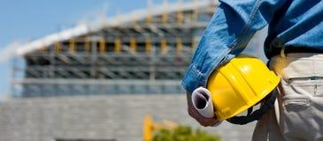 Trabalhador da construção no local Imagens de Stock