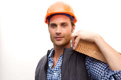 Trabalhador da construção no trabalho Foto de Stock