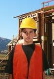 Trabalhador da construção novo foto de stock royalty free
