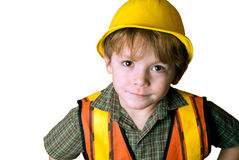 Trabalhador da construção pequeno Fotografia de Stock Royalty Free