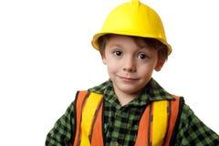 Trabalhador da construção pequeno Imagens de Stock Royalty Free