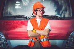Trabalhador da construção Safety imagem de stock royalty free