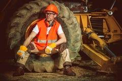 Trabalhador da construção caucasiano Imagens de Stock