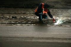 Trabalhador da estrada de ferro imagem de stock royalty free