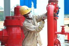 Trabalhador da facilidade do gás Imagem de Stock Royalty Free