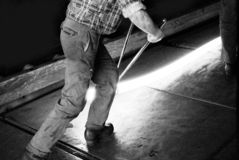 Trabalhador da fresa de aço Fotografia de Stock Royalty Free