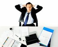 Trabalhador da mesa de escritório Fotografia de Stock Royalty Free