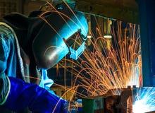 Trabalhador da soldadura Foto de Stock