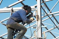 Trabalhador da soldadura de arco elétrico Fotografia de Stock Royalty Free