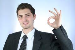 Trabalhador de colar branco satisfeito com Imagem de Stock