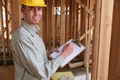 Trabalhador de Contruction Foto de Stock