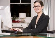 Trabalhador de escritório Fotografia de Stock Royalty Free