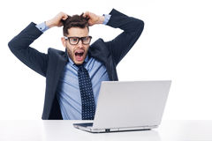 Trabalhador de escritório Imagens de Stock