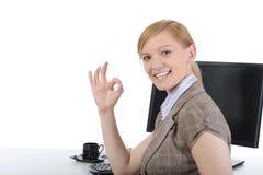 Trabalhador de escritório bonito. Foto de Stock Royalty Free