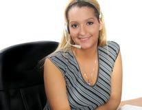 Trabalhador de escritório da mulher fotos de stock