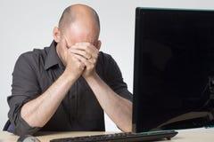 Trabalhador de escritório de Streesed Imagem de Stock Royalty Free
