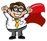 Trabalhador de escritório do super-herói dos desenhos animados Imagem de Stock Royalty Free