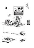 Trabalhador de escritório domiciliário forçado (2008) Fotos de Stock Royalty Free
