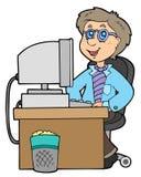 Trabalhador de escritório dos desenhos animados Foto de Stock Royalty Free