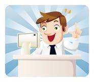 Trabalhador de escritório dos desenhos animados Imagens de Stock