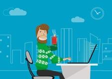 Trabalhador de escritório em casa Fotografia de Stock Royalty Free