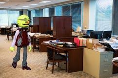 Trabalhador de escritório engraçado do fantoche, negócio ilustração stock
