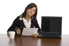 Trabalhador de escritório fêmea foto de stock royalty free