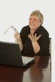 Trabalhador de escritório feliz Imagens de Stock Royalty Free
