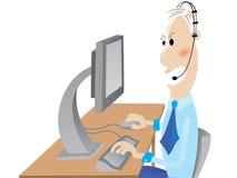 Trabalhador de escritório irritado ilustração stock