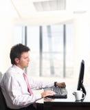Trabalhador de escritório - macho imagens de stock