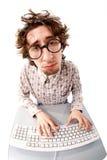 Trabalhador de escritório miserável Imagem de Stock