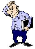Trabalhador de escritório pensativo Imagens de Stock