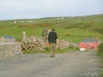 Trabalhador de exploração agrícola irlandês Fotografia de Stock