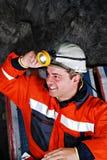 Trabalhador de mina Fotografia de Stock Royalty Free
