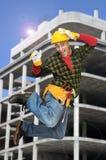 Trabalhador de salto foto de stock
