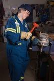 Trabalhador do armazém da mulher Imagens de Stock Royalty Free