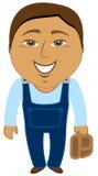 Trabalhador do asian dos desenhos animados Fotografia de Stock