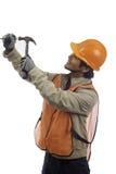 Trabalhador do chapéu duro Foto de Stock Royalty Free