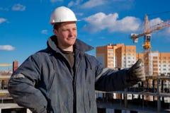 Trabalhador do contramestre da construção Fotografia de Stock Royalty Free