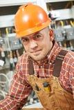 Trabalhador do coordenador do eletricista Imagem de Stock