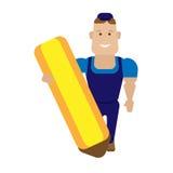 Trabalhador do lápis Foto de Stock