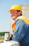 Trabalhador do pedreiro da construção imagens de stock royalty free