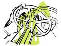 Trabalhador do petróleo ilustração stock