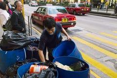 Trabalhador do saneamento fotografia de stock royalty free
