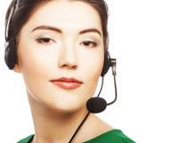 Trabalhador do serviço ao cliente da mulher Foto de Stock Royalty Free