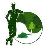 Trabalhador e ambiente logo Fotos de Stock Royalty Free
