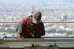 Trabalhador elevado Imagem de Stock Royalty Free