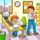 Trabalhador esgotado Imagens de Stock