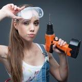 Trabalhador fêmea 'sexy' Imagens de Stock