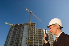 Trabalhador/gerente da engenharia de construção Fotos de Stock Royalty Free
